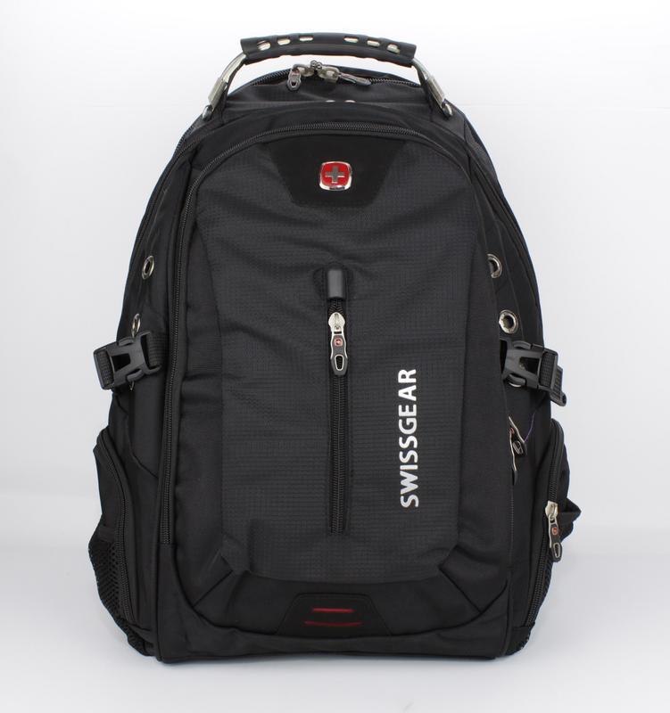 Рюкзак городской с выходом для наушников черный SwissGear 1521