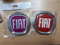 Эмблема значок на капот, багажник Fiat Doblo, Фиат Добло 120 мм красный