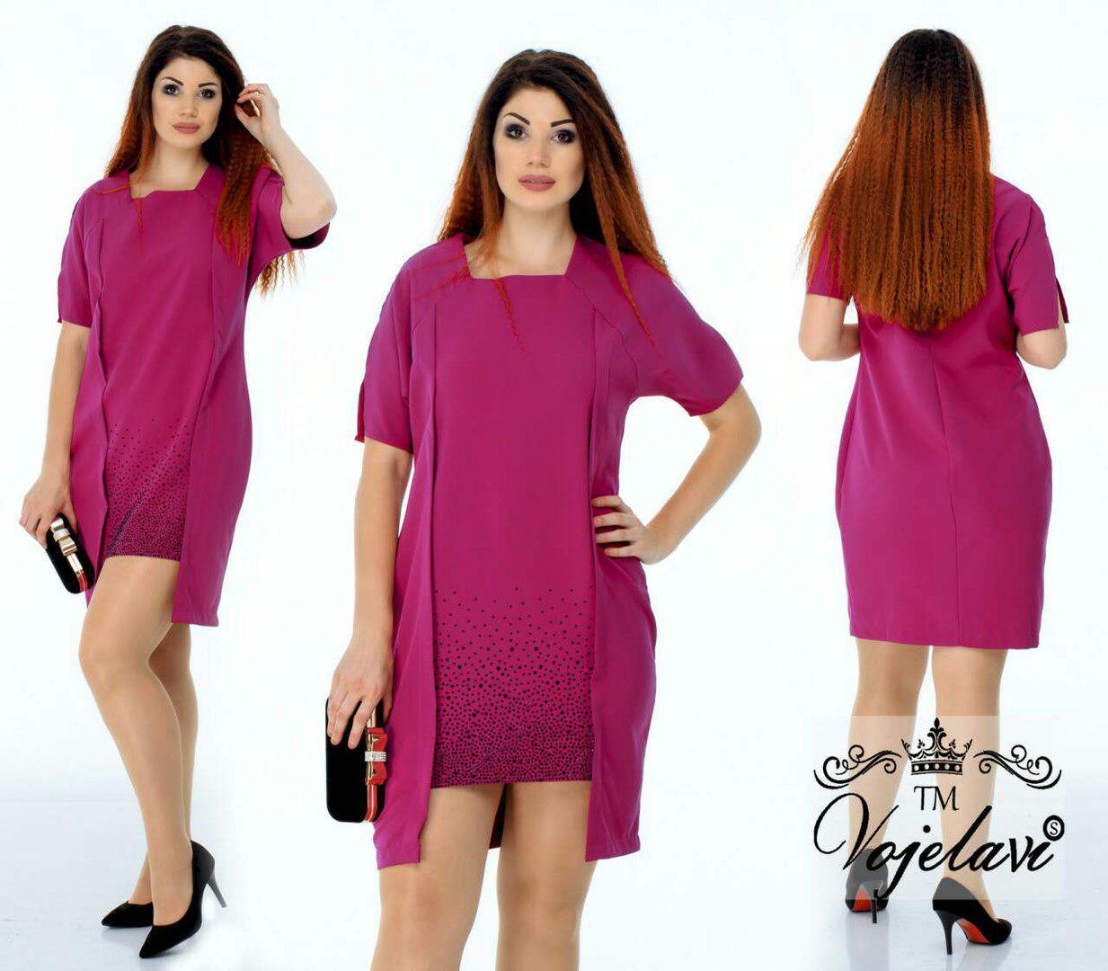 814c3aa336a Стильное женское платье с удлиненной спинкой A1057 оптом и в розницу ...