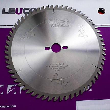 300x3,2x2,2x30 Z=60 Форматна дискова пила Leuco для торцювання по дереву, фото 2