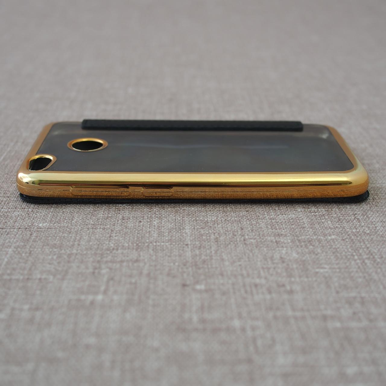 Чехлы для Xiaomi Redmi 4X Book Cover 4x black Для телефона Черный