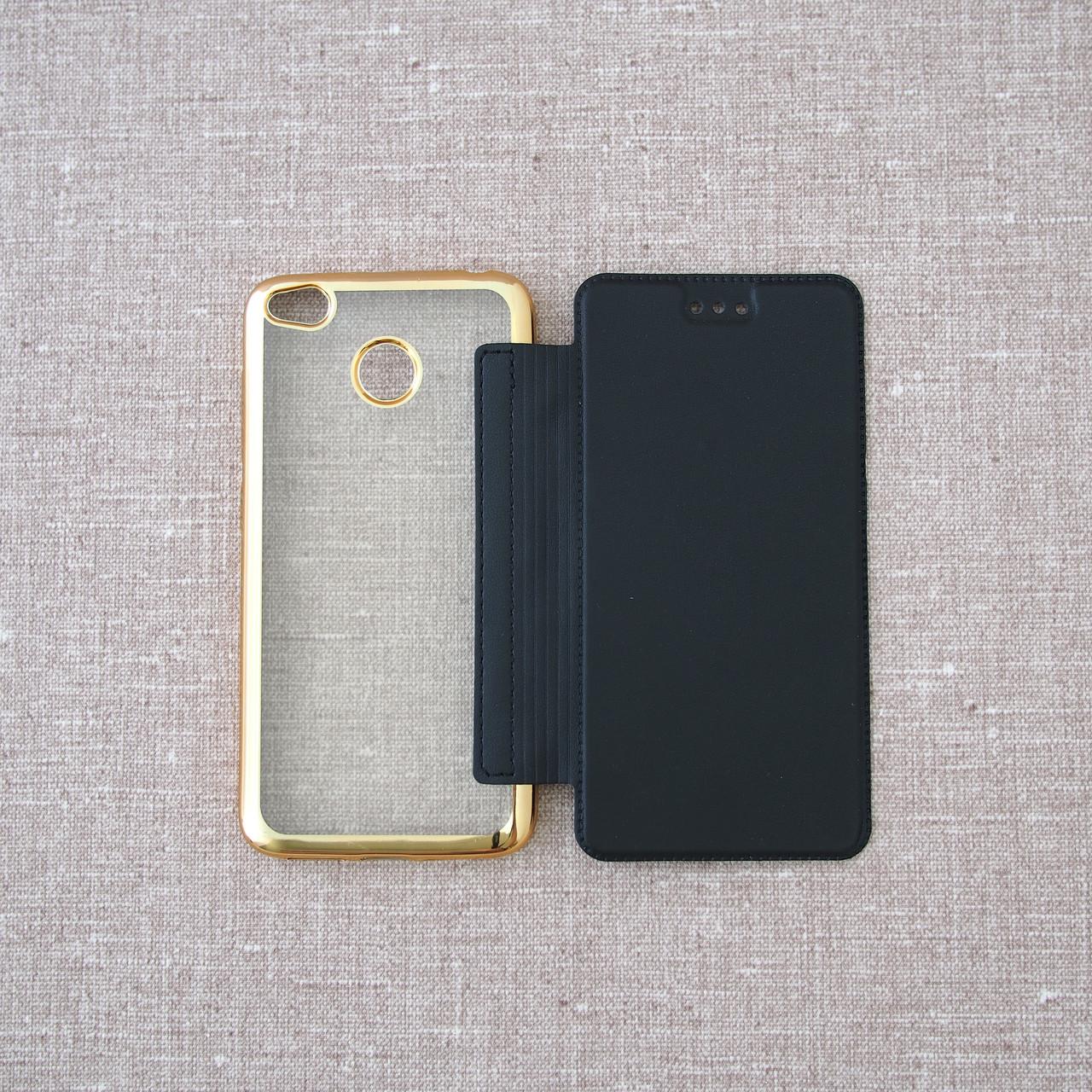 Чехол Book Cover Xiaomi Redmi 4x black 4X Для телефона