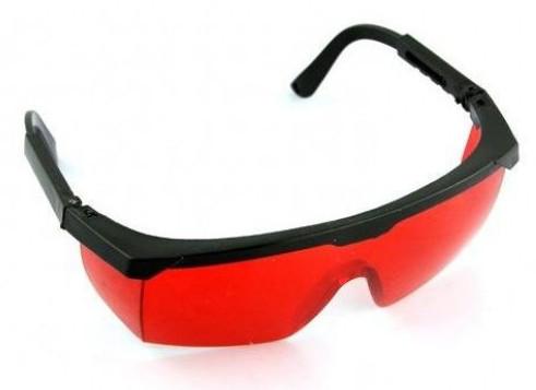 Очки Комфорт-к (красные для лазера) с регулируемой дужкой