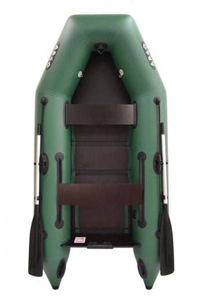 Двухместная надувная плоскодонная моторная ПВХ лодка (АМ-270)