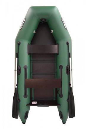 Двухместная надувная плоскодонная моторная ПВХ лодка (АМ-270), фото 2