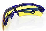 Очки жёлтые поворотные удлинённые дужки, стекло поликарбонат., фото 2