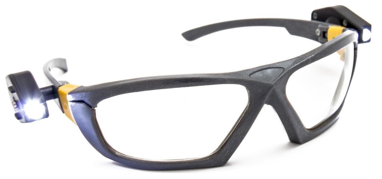 Очки с 2-мя фонариками, стекло поликарбонат