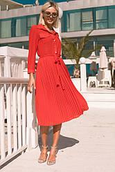 Платье женское с плиссе юбкой