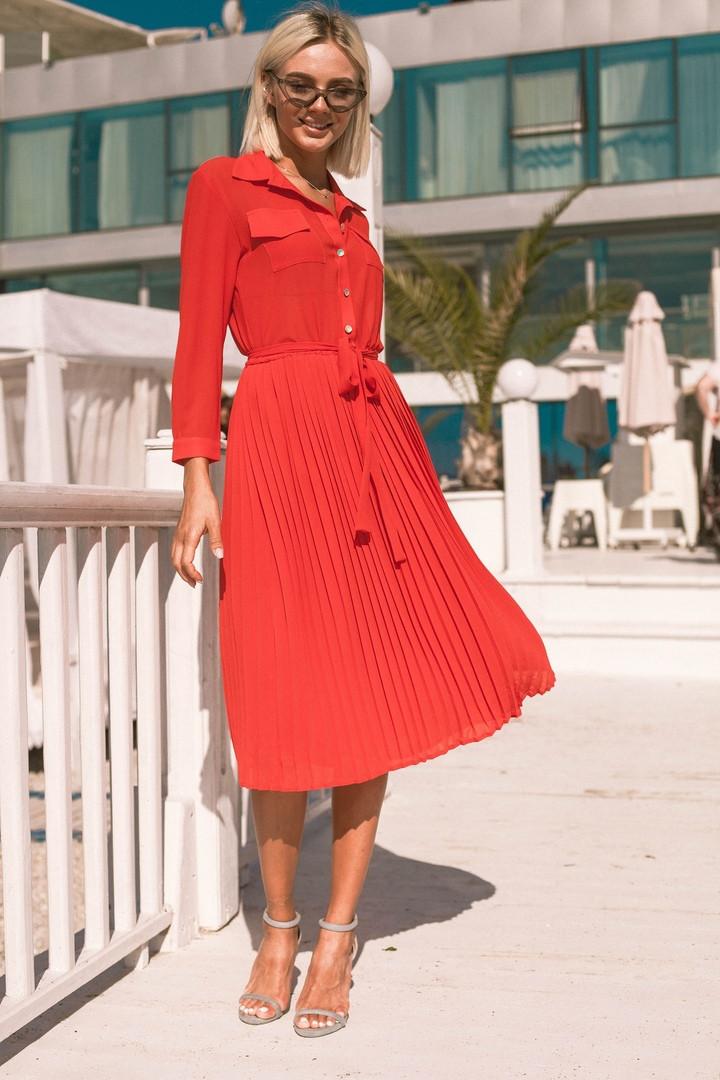 53cb486113e Платье женское с плиссе юбкой - eleganza.com.ua в Одессе