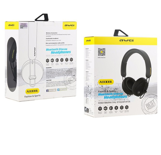 Наушники AWEI A800BL Bluetooth \ Black