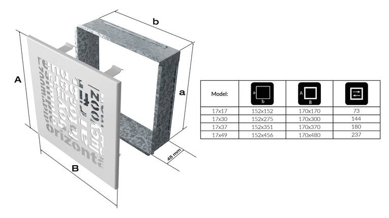 Вентиляционная решетка для камина KRATKI ABC 17х17 см бежевая, фото 2