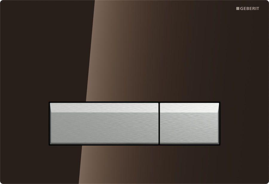 Geberit Sigma40 Смывная клавиша, стекло, коричневаяалюминий со встроенной системой удаления запаха