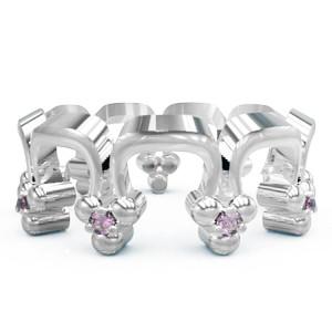 Кольцо  женское серебряное Корона Перевернутая Os 2259