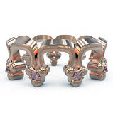 Кольца серебряные Корона Перевернутая Os 2259, фото 2