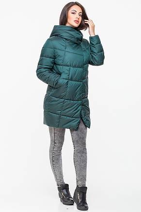 Куртка зимняя женская Kattaleya KTL-203 темно-зеленая (#602) 46 размер, фото 2