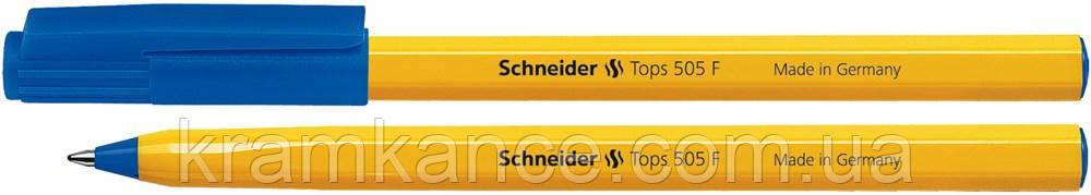 Ручки шариковые Schnaider TOPS 505 F син, фото 2