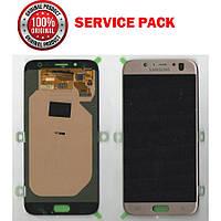 Дисплей + сенсор Samsung J730 J7 PRO 2017 Золотой Original 100% SERVICE  PACK GH97- 7f50bae328697