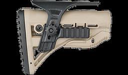 GSPCP Щека регулируемая FAB Defense  с планкой Пикатинни для приклада GL-SHOCK с амортизатором, черная