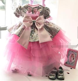 Детское платье серебряная паетка.