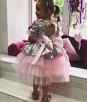 Дитяче плаття срібна паетка., фото 2