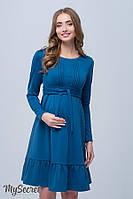 Шикарное платье для беременных и кормящих MICHELLE, изумрудное*, фото 1