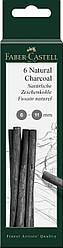 Вугілля натуральне Faber-Castell набір 6 штук, товщина 6-11 мм, 129398