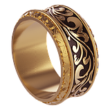 Кольцо  женское серебряное С Вензелями Os 2266, фото 2