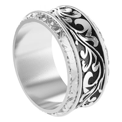 Кольцо мужское серебряное С Вензелями Os 2266