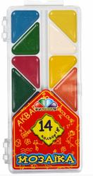 Акварельні фарби для школи 14 кольорів Мозаїка Акварельні фарби хороші Акварельні фарби для дітей