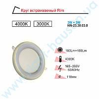 Светильник LED PANEL RIGHT HAUSEN RIM 3W 4000K белый, подсветка 3W 3000К HN-2330030