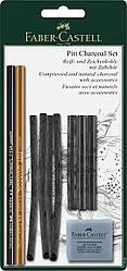 Набір вугілля та вугільних олівців Faber-Castell PITT Charcoal Set з 10 предметів, 112996
