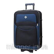 Комплект чемодан + кейс Bonro Style (средний) черно-т. синий, фото 3