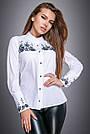 Блузка белая с вышивкой женская софт, фото 2
