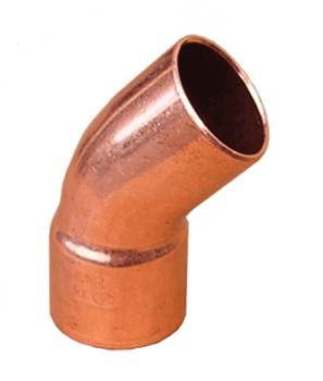 Колено медное Sanha 45° 5040/88, 9 мм (1 муфта)