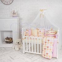 Комплект детского постельного белья  Бэби дизайн Ванильные сердечки, фото 1