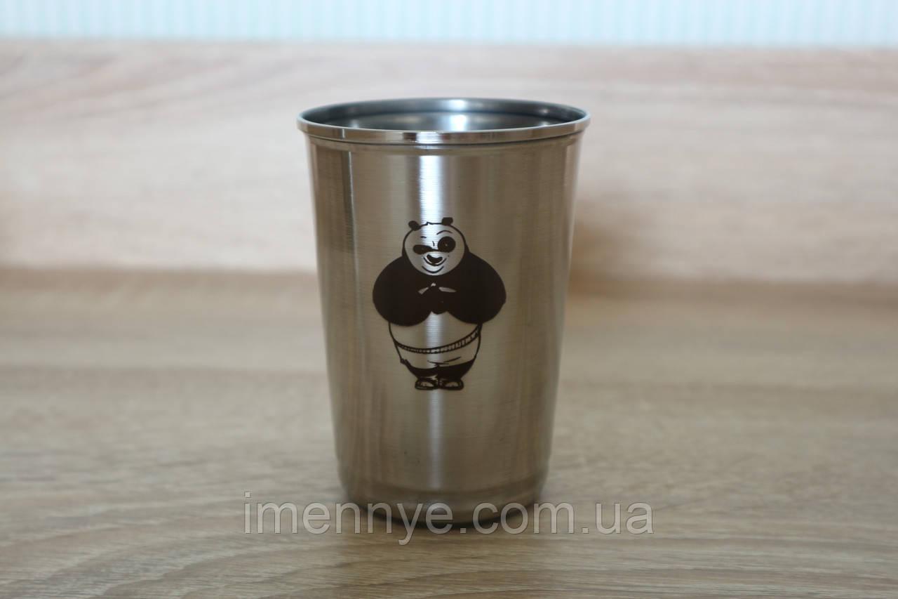 Красивый именной стакан в подарок сотрудникам компании