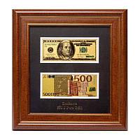 Панно подарочное BST 600050 USA + Euro