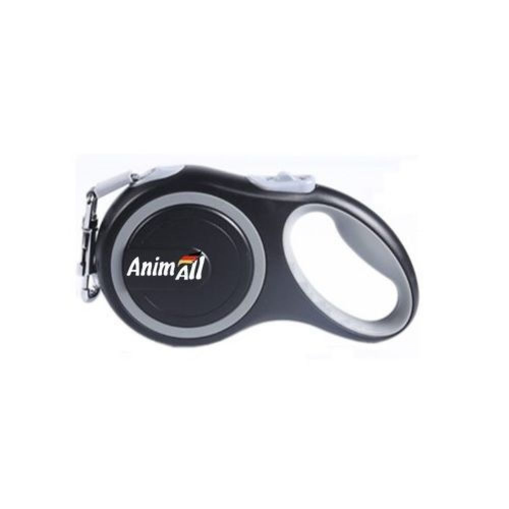 AnimАll (Энимал) рулетка поводок для собак до 25 кг, серый