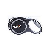 AnimАll (Энимал) рулетка поводок для собак до 15 кг, серый