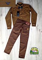 Костюм для мальчика: коричневая рубашка Armani и брюки Polo, фото 1