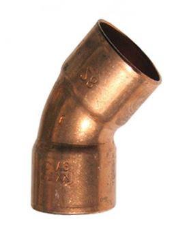 Колено медное Sanha 45° 5041/15 мм (2 муфты)