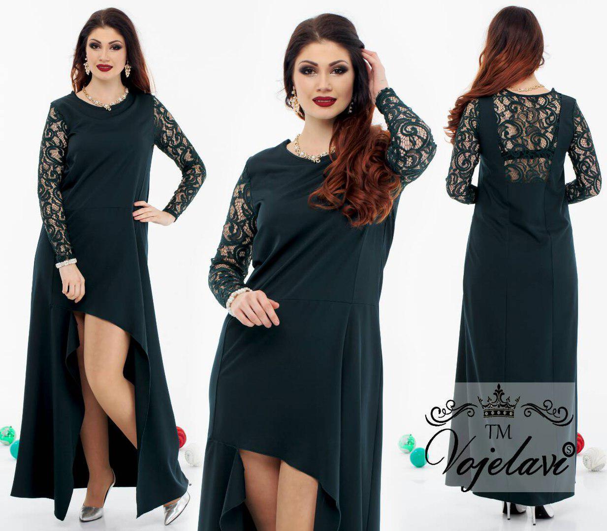 38d7b6dd6af Элегантное женское платье с гипюром A1096 оптом и в розницу
