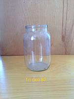 Стеклобанка 1 л СКО, ширина горловины 82 мм (12 штук в упаковке)