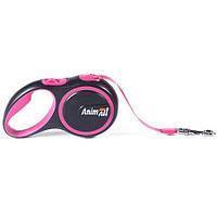 AnimАll (Энимал) рулетка поводок для собак до 15 кг розовый