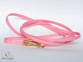 Поводок из биотана(Biothane) Нежно Розовый 16мм