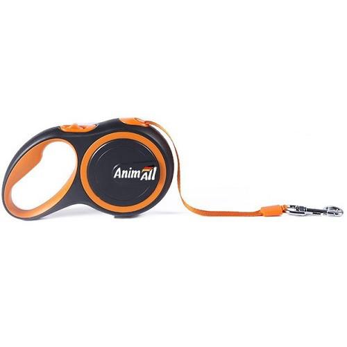 AnimАll (Энимал) рулетка поводок для собак до 25 кг оранжевый