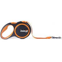 AnimАll (Энимал) рулетка поводок для собак до 15 кг оранжевый