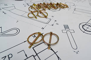 Шплинты (штифты) с кольцом DIN 11023