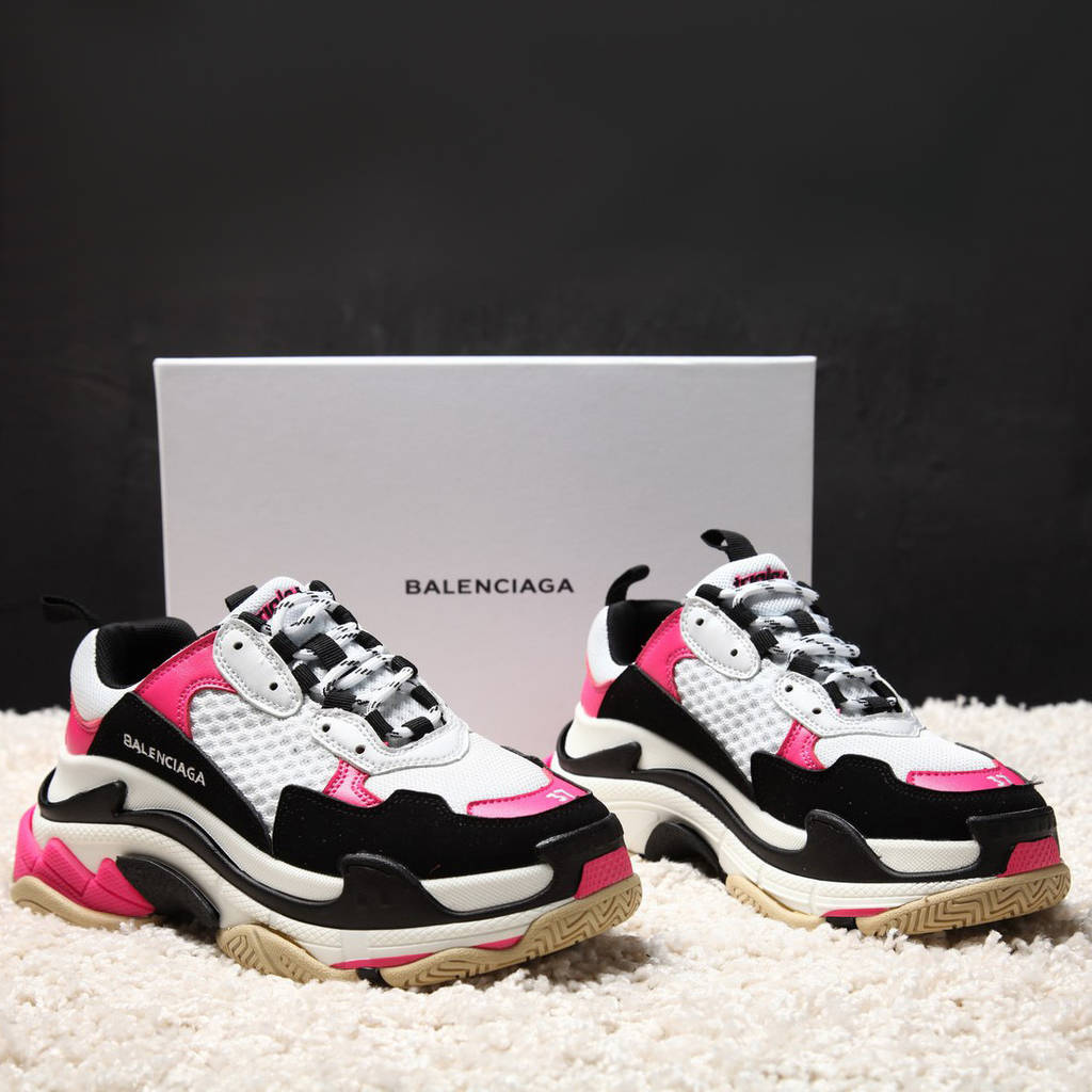 Balenciaga Triple S Pink White Black (реплика)