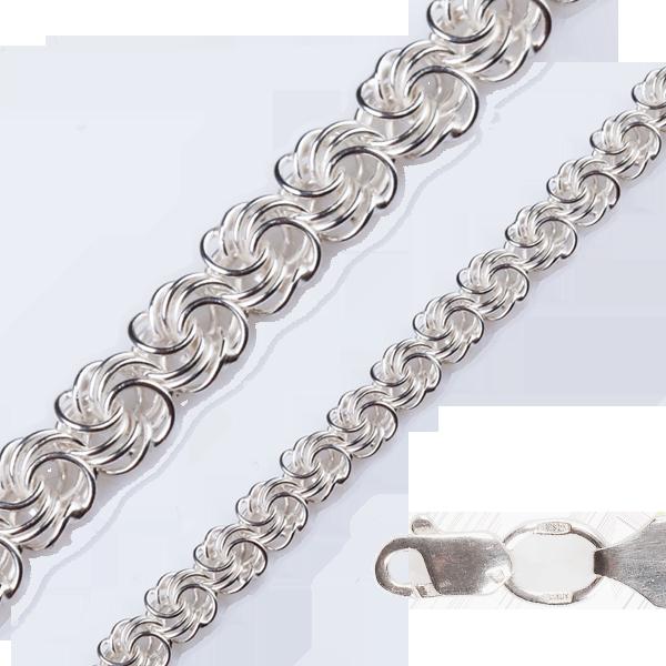 Цепь серебряная плетение Роза от 12 грамм